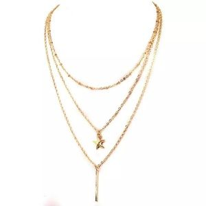 Jewelry - Starfish Multi Layered Gold Necklace